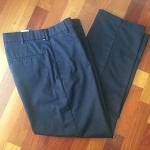 Men's Docker Dress Slacks 30x30 Charcoal Blk EUC